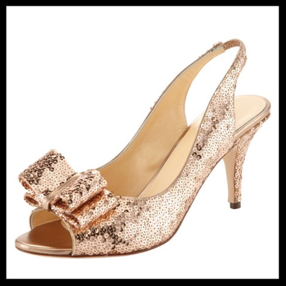 7ea8d0fcd6f1 kate spade Shoes - kate spade    charm sequin heels sawyer rose gold